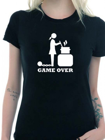 T-shirt wedding game over donna