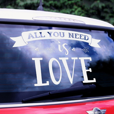 Adesivo per auto All you need is love