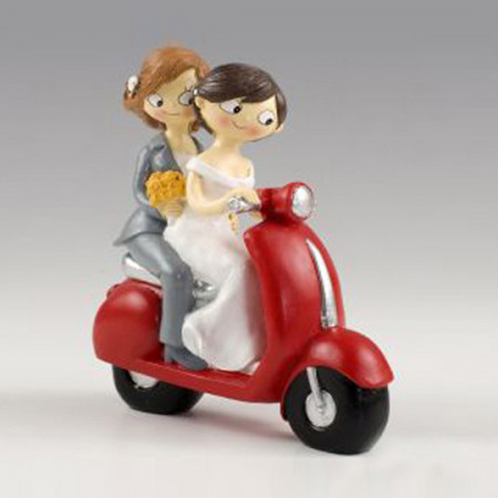 Cake topper Girls in moto