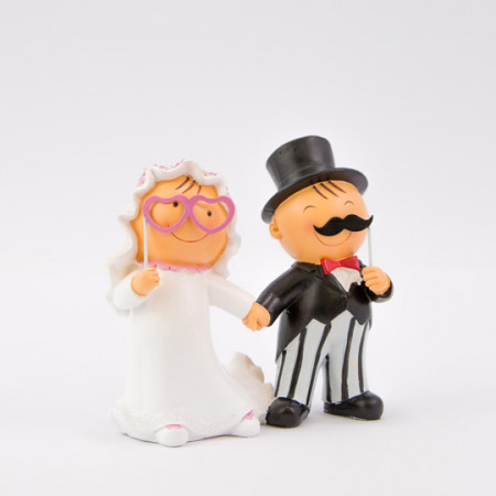 Cake topper sposi photobooth