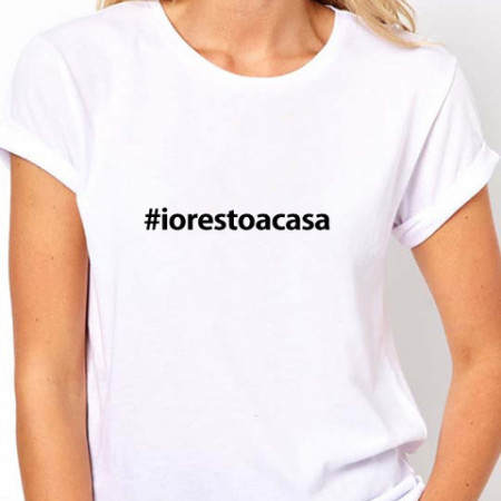 T-shirt #iorestoacasa