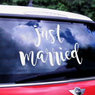 Adesivo per auto Just married