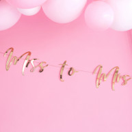 Banner Miss to Mrs rosa gold