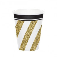 Bicchiere carta Black & Gold 8 pz