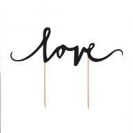 Cake topper love romantico nero