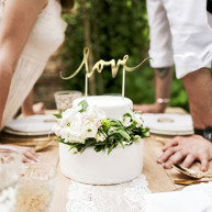 Cake topper love romantico oro