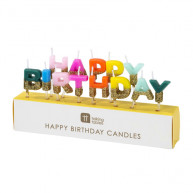 Candele Happy birthday arcobaleno