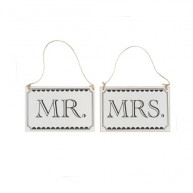Cartelli vintage Mr e Mrs