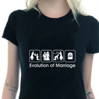T-shirt wedding evolution nera