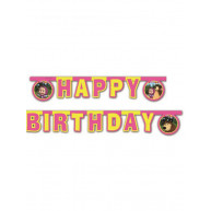 Banner happy birthday Masha e Orso