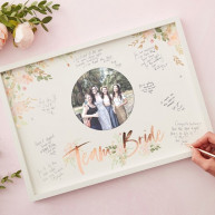 Guest book floral team bride cornice