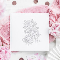 Guest book peonie bianco e argento