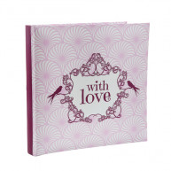 Guestbook with love fucsia