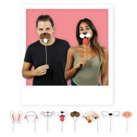 Kit per photobooth Animali 8 pezzi