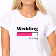 T-shirt wedding loading bianca donna