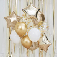 Mix palloncini gold party 12 pezzi