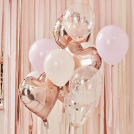 Mix palloncini ombre party 12 pezzi