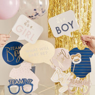 Kit per photobooth navy pink 10 pezzi