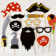 Kit per photo booth pirati 12 pezzi