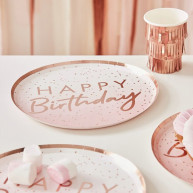 Piatti happy birthday ombre party 8 pezzi