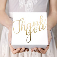 Cake Box Thank you Oro 10 pezzi