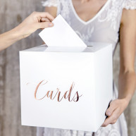 "Box porta buste e messaggi White&Rose-gold ""Cards"""