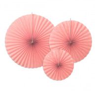 Rosette decorative Rosa Blush 3 pezzi