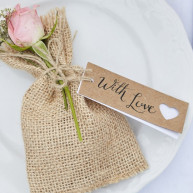 Wedding tags cuore 8 pezzi