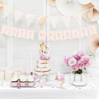 Banner just married rosa chic e oro