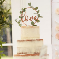 Cake topper love rosa gold
