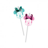 Cannucce Minnie Party Gem 6 pz