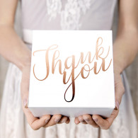 Cake Box Thank you Rosa Gold 10 pezzi