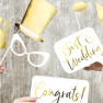 Photo booth wedding gold 10 pezzi