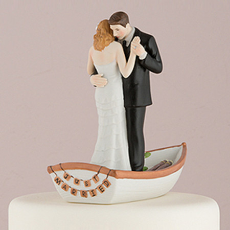 Cake topper Sposi in barca