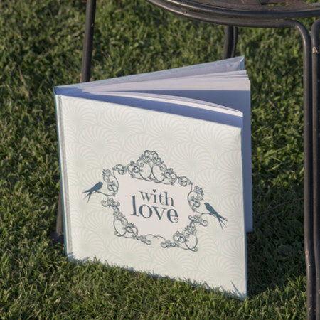 Guestbook with love menta