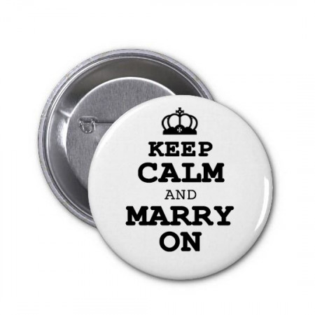 Spilla keep calm and marry on