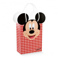 Bag mickey's party disney rossa 10 pezzi