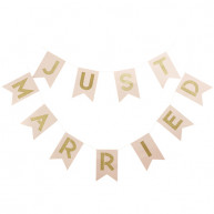 Banner just married rosa e oro