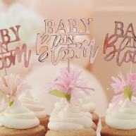 Cupcake toppers baby in bloom 12 pezzi