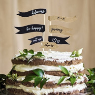 Cake topper love message