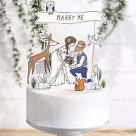 Cake topper marry me