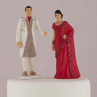 Cake Topper Eheparr - Indische Tradition