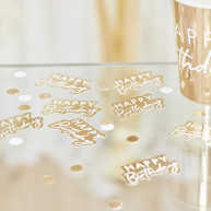 Decorazioni happy birthday gold party