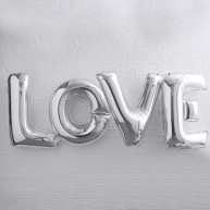 Decorazione palloncini love argento large