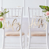 Decorazioni da sedia gold wedding