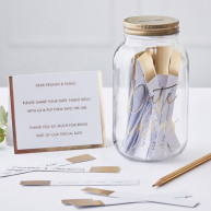 Guest book barattolo gold wedding
