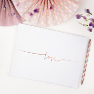 Guest book Love bianco e rosa gold