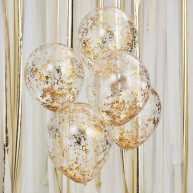Palloncini lamina gold party 5 pezzi