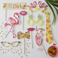 Photobooth Set Love Hawaii - 10 Accessoires