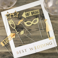 Photo booth Best Wedding Gold